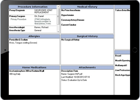 Anesthesia Information Management System